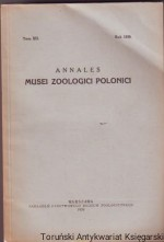 Annales Musei Zoologici Polonici Tom XII Rok 1939